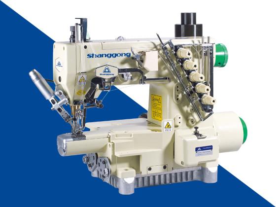 GK 720D细横筒型三针绷缝机附自动切线装置